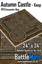 "Autumn Castle Keep 24"" x 24"" RPG Encounter Map"
