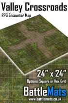 "Valley Crossroads 24"" x 24"" RPG Encounter Map"