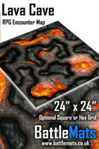 "Lava Cave 24"" x 24"" RPG Encounter Map"