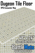"Dungeon Tile Floor 48"" x 24"" RPG Encounter Map"