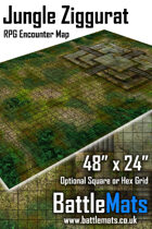 "Jungle Ziggurat 48"" x 24"" RPG Encounter Map"