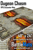 "Dungeon Chasm 48"" x 24"" RPG Encounter Map"