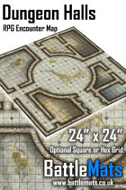 "Dungeon Halls 24"" x 24"" RPG Encounter Map"