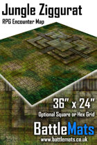 "Jungle Ziggurat 36"" x 24"" RPG Encounter Map"