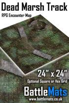 "Dead Marsh Track 24"" x 24"" RPG Encounter Map"