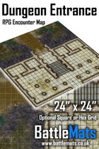 """Dungeon Entrance 24"""" x 24"""" RPG Encounter Map"""