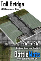 "Toll Bridge 24"" x 24"" RPG Encounter Map"