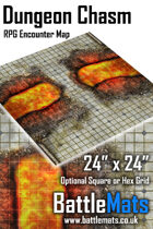 """Dungeon Chasm 24"""" x 24"""" RPG Encounter Map"""