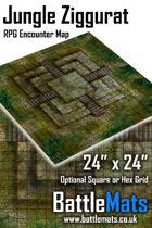 "Jungle Ziggurat 24"" x 24"" RPG Encounter Map"