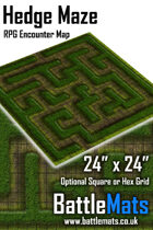 "Hedge Maze 24"" x 24"" RPG Encounter Map"