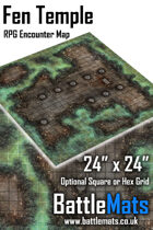 "Fen Temple 24"" x 24"" RPG Encounter Map"