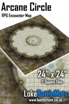 "Arcane Circle 24"" x 24"" RPG Encounter Map"