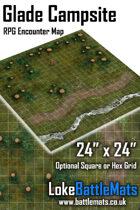"""Glade Campsite 24"""" x 24"""" RPG Encounter Map"""