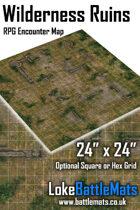 "Wilderness Ruins 24"" x 24"" RPG Encounter Map"