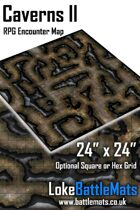 "Caverns II 24"" x 24"" RPG Encounter Map"