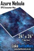 "Azure Nebula 24"" x 24"" RPG Encounter Map"