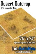 """Desert Outcrop 24"""" x 24"""" RPG Encounter Map"""