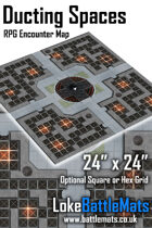 """Ducting Spaces 24"""" x 24"""" RPG Encounter Map"""