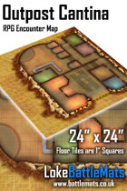"""Outpost Cantina 24"""" x 24"""" RPG Encounter Map"""