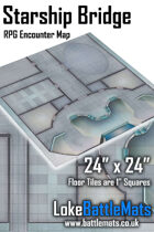 "Starship Bridge 24"" x 24"" RPG Encounter Map"