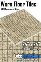 "Worn Floor Tiles 24"" x 24"" RPG Encounter Map"
