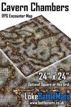 "Cavern Chambers 24"" x 24"" RPG Encounter Map"