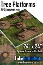 "Tree Platforms 24"" x 24"" RPG Encounter Map"