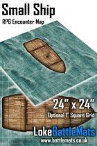 "Small Ship 24"" x 24"" RPG Encounter Map"
