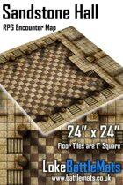 "Sandstone Hall 24"" x 24"" RPG Encounter Map"