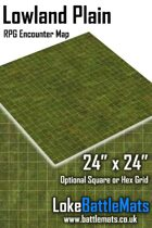 "Lowland Plain 24"" x 24"" RPG Encounter Map"