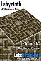 "Labyrinth 24"" x 24"" RPG Encounter Map"