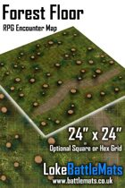 """Forest Floor 24"""" x 24"""" RPG Encounter Map"""