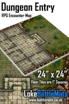 """Dungeon Entry 24"""" x 24"""" RPG Encounter Map"""