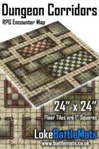 "Dungeon Corridors 24"" x 24"" RPG Encounter Map"