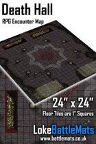 """Death Hall 24"""" x 24"""" RPG Encounter Map"""