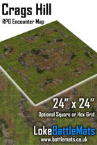 "Crags Hill 24"" x 24"" RPG Encounter Map"