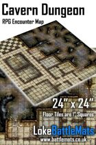 "Cavern Dungeon 24"" x 24"" RPG Encounter Map"
