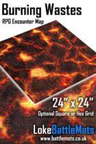 "Burning Wastes 24"" x 24"" RPG Encounter Map"