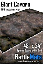 "Giant Cavern 48"" x 24"" RPG Encounter Map"