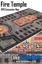 "Fire Temple 48"" x 24"" RPG Encounter Map"