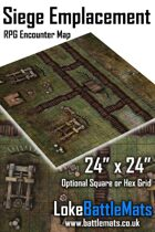 "Siege Emplacement 24"" x 24"" RPG Encounter Map"