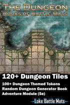 The Dungeon - Books of Battle Mats (Digital Edition) 120+ Digital Dungeon battle map tiles