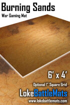 Burning Sands - 6'x4' War Gaming Mat