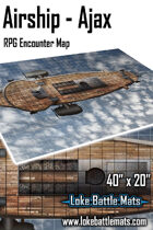 "Airship - Ajax 40"" x 20"" RPG Encounter Map"