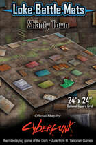 "Shanty Town 24"" x 24"" RPG Encounter Map"