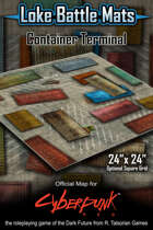 "Container Terminal 24"" x 24"" RPG Encounter Map"