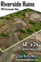 "Riverside Ruins 48"" x 24"" RPG Encounter Map"