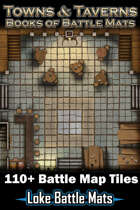 Towns & Taverns - Books of Battle Mats (Digital Edition) 110+ Digital battle map tiles