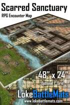"Scarred Sanctuary 48"" x 24"" RPG Encounter Map"