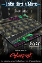 """Overpass 24"""" x 24"""" Cyberpunk RED Map"""